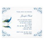 Peacock Garden in Blue Bridal Shower Invitation