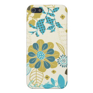 Peacock Garden in Teal and Olive Cover For iPhone SE/5/5s