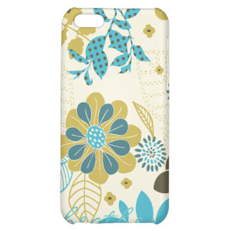 Peacock Garden in Teal and Olive iPhone 5C Covers