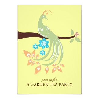 Peacock Garden Party Invitations