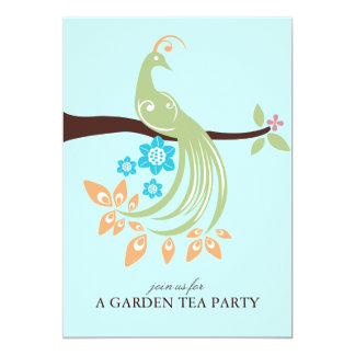 Peacock Garden Party Invitations
