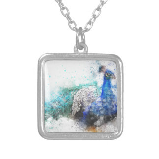Peacock Gifts Silver Plated Necklace