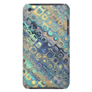 Peacock Glass Mosaic Tile Purple Blocks Lavander Barely There iPod Cover