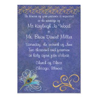 Peacock Glory Wedding Invitation