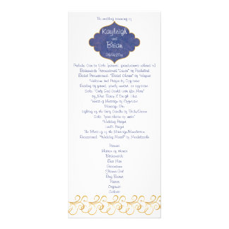 Peacock Glory Wedding Program Personalized Rack Card