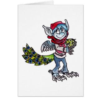 Peacock Goblin Greeting Card