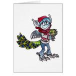 Peacock Goblin Greeting Cards