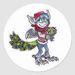Peacock Goblin Round Sticker