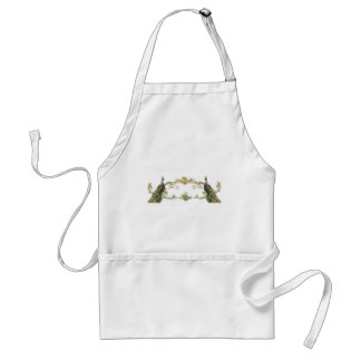 Peacock & Gold Filigree Adult Apron