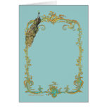 Peacock & Gold Filigree Cards