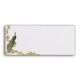 Peacock & Gold Filigree Envelope