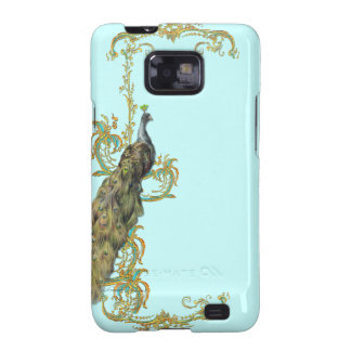 Peacock & Golden Scrolls Galaxy S2 Covers