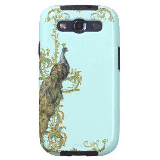 Peacock & Golden Scrolls Samsung Galaxy SIII Case