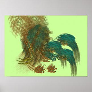 Peacock grass print
