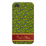 Peacock Green custom Cases For iPhone 4