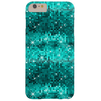 Peacock Green Disco Glitter Barely There iPhone 6 Plus Case