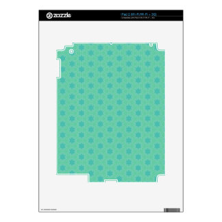 Peacock Green Pattern Decals For iPad 2