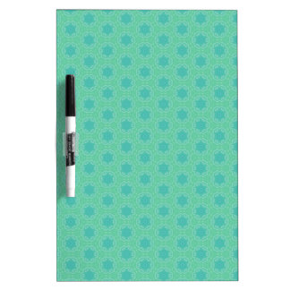 Peacock Green Pattern Dry-Erase Board