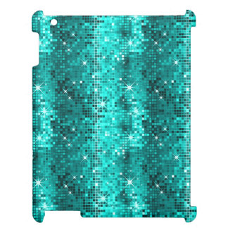 Peacock Green Sequins Pattern Disco Glitter iPad Cases