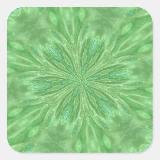Peacock Green Square Sticker