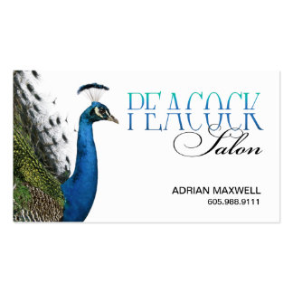 Peacock Hair Stylist Beauty Salon Designer Business Card