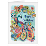 Peacock Happy Birthday | Greeting Card at Zazzle
