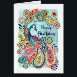 """Peacock Happy Birthday 
