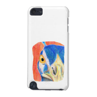 Peacock head colored pencil drawing sketch iPod touch (5th generation) case