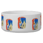 Peacock head colored pencil drawing sketch dog food bowls