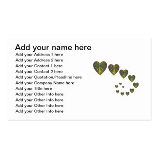 Peacock heart trails business cards