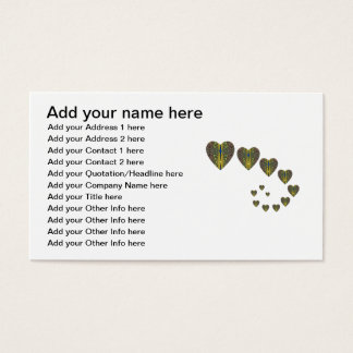 Peacock heart trails business card