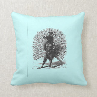 Peacock Horse Demon Throw Pillow