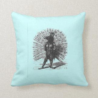 Peacock Horse Demon Throw Pillow