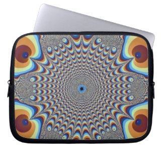 Peacock Illusion Laptop Sleeve