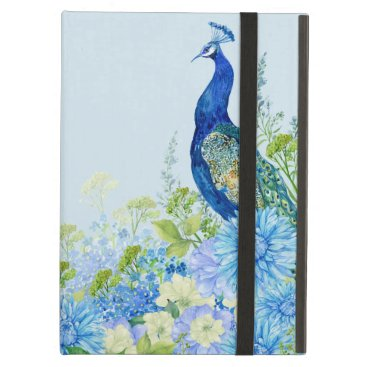 Peacock In Blue Case For iPad Air