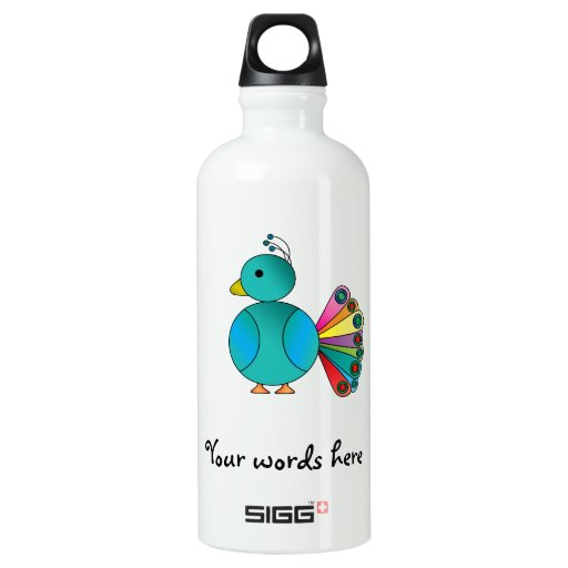 Peacock in blue SIGG traveler 0.6L water bottle