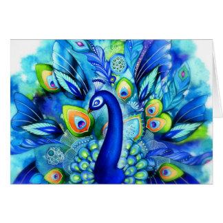 Peacock in Full Bloom Card