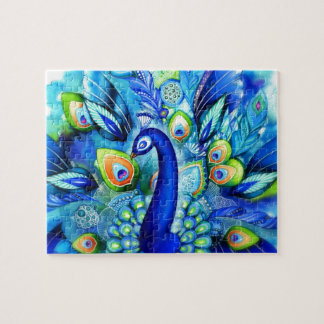 Peacock in Full Bloom Jigsaw Puzzle