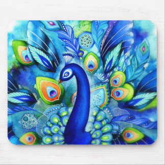 Peacock in Full Bloom Mouse Pad