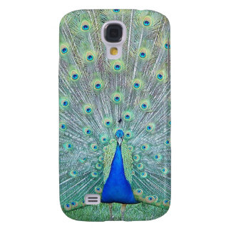 Peacock in Full Plumage Display Photography Galaxy S4 Cover