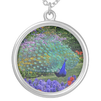 Peacock in Garden #2 Necklace