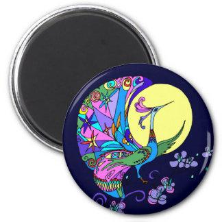 Peacock in Moonlight Magnet