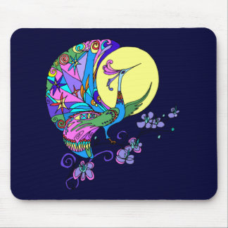 Peacock in Moonlight Mouse Pad