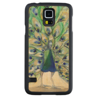 Peacock in San Diego 2 2013 Carved Maple Galaxy S5 Slim Case
