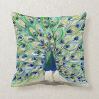 Peacock in San Diego 2 2013 Throw Pillow