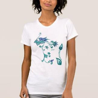 Peacock Indian Art Design Blue Green T-Shirt