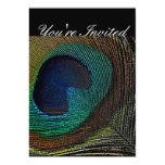 """Peacock Invitations 5"""" X 7"""" Invitation Card"""