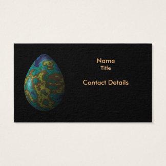 Peacock Iridescent Egg Business Card