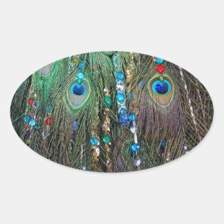 Peacock Jewelery Oval Sticker