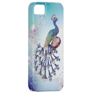 Peacock Jewels Print Fantasy Art iPhone SE/5/5s Case